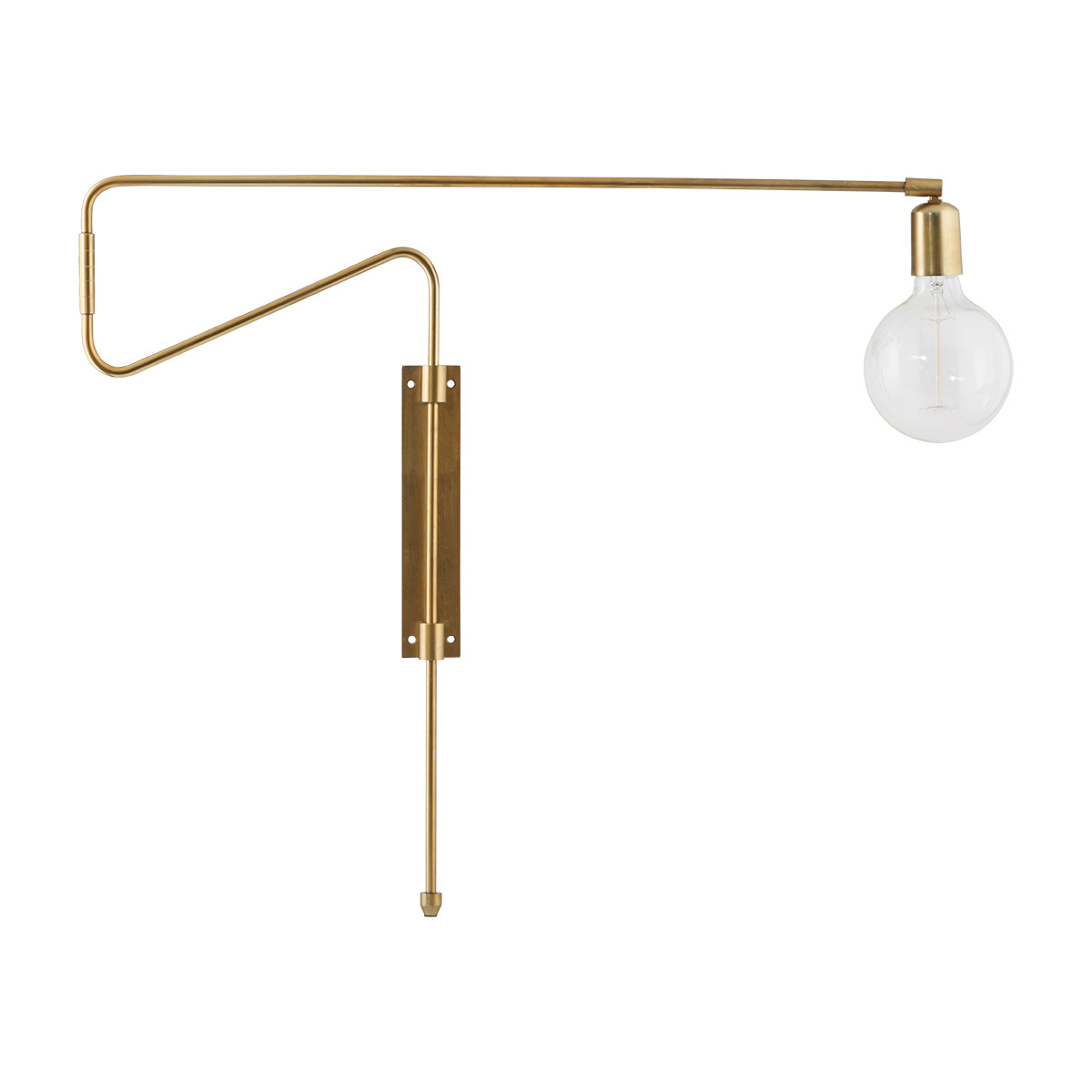 House Doctor Brass Wall Lamp SWING - L70cm - House Doctor