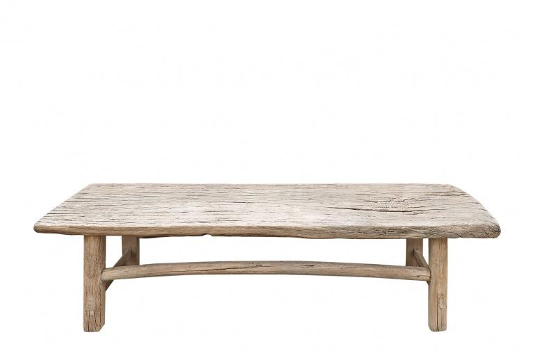 Snowdrops Copenhagen Table basse naturelle XL - 161x40xh45cm - Bois d'orme