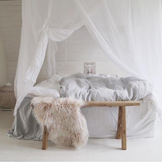 Romantic Bohemian bedroom - spotted on Pinterest
