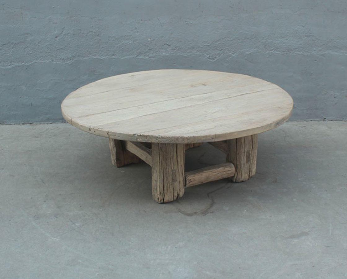 Table basse naturelle - rond - 130xh46cm - Bois d'orme