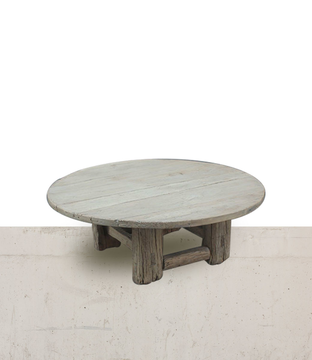Petite Lily Interiors Natural coffee table rond - 130xh46cm - Elm Wood