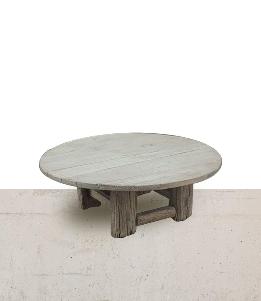 Petite Lily Interiors Table basse naturelle - rond - 130xh46cm - Bois d'orme