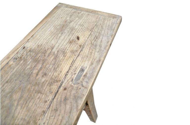 Table console vintage en Bois d'orme - Piece Unique - 208x33xh83cm