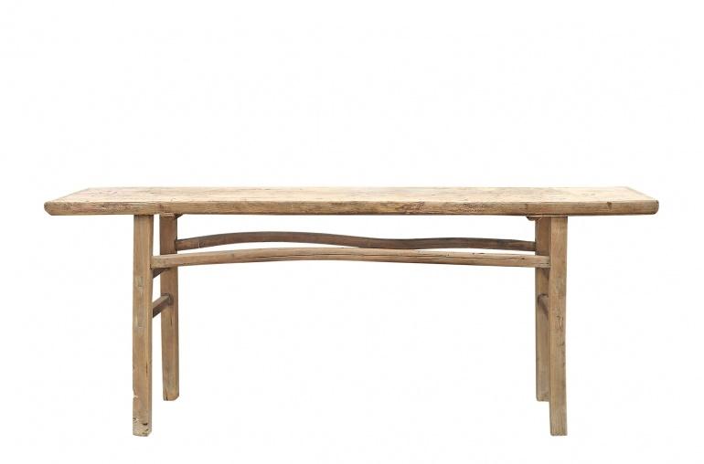 Petite Lily Interiors Table console vintage en Bois d'orme - Piece Unique - 208x33xh83cm