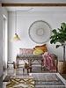 Bloomingville Coussin pour banc / chaise - multicolore - L145xH10xW65cm - Bloomingville
