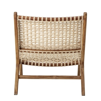 Bloomingville Chaise Lounge teck et rotin - Natural - Bloomingville