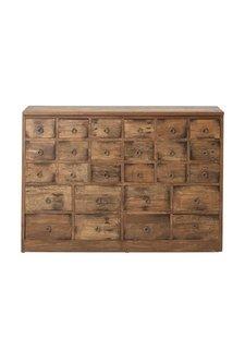Bloomingville Meuble de métier d'atelier bois - 26 tiroirs -  L112xH78xW32cm