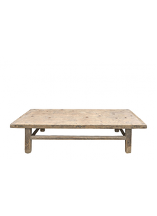 Snowdrops Copenhagen Table basse naturelle - 164x56xh42cm - Bois d'orme