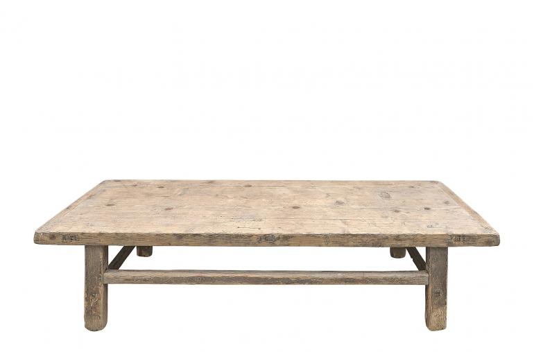 Snowdrops Copenhagen Table basse naturelle - 164x56xh42cm - Bois d'orme - VENDUE