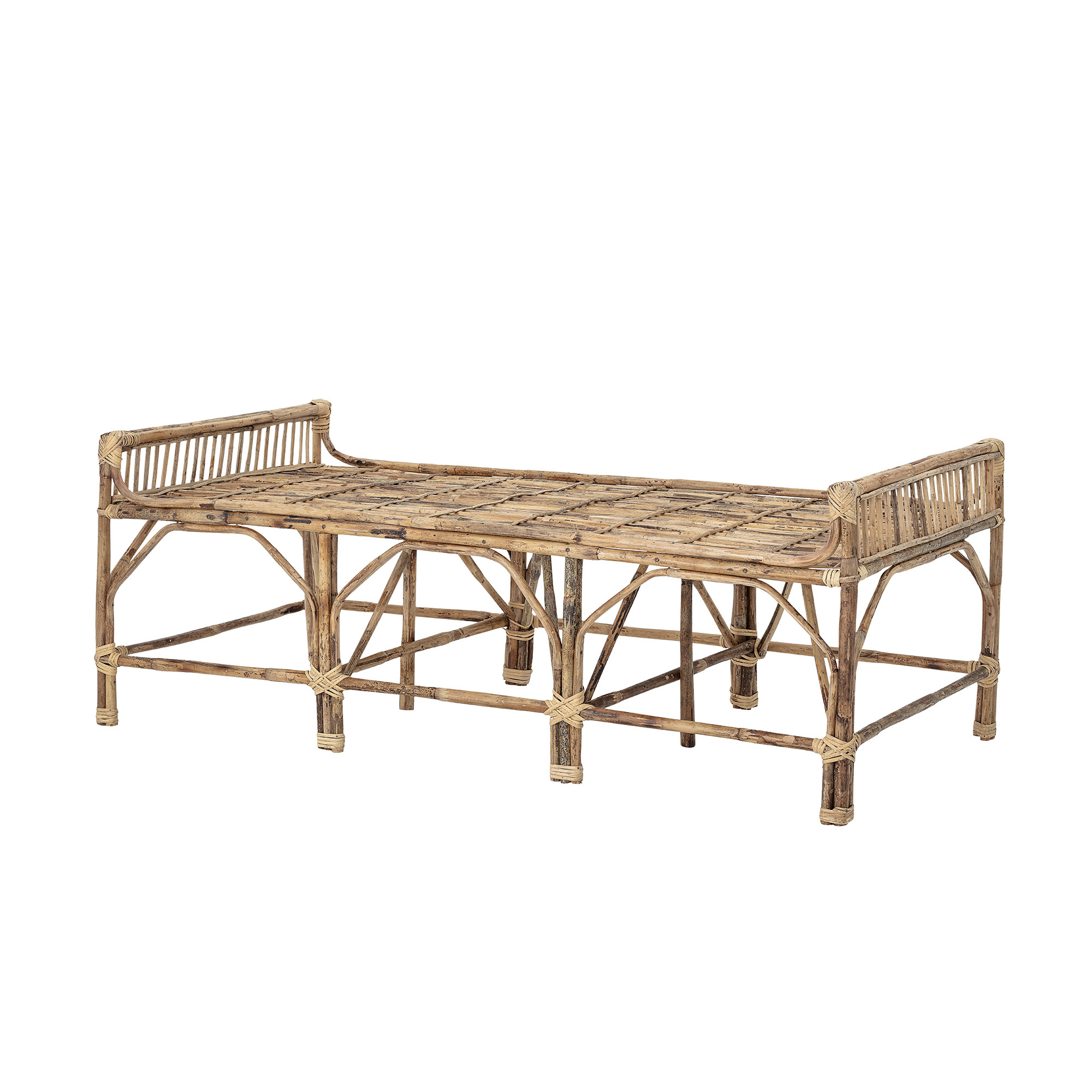 Bloomingville bench natural - Cane - L150xH55xW73 - Bloomingville
