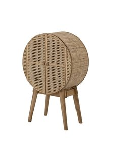 Bloomingville Bedside / Cabinet - MDF / rattan  - L51,5xH80xW28 - Bloomingville