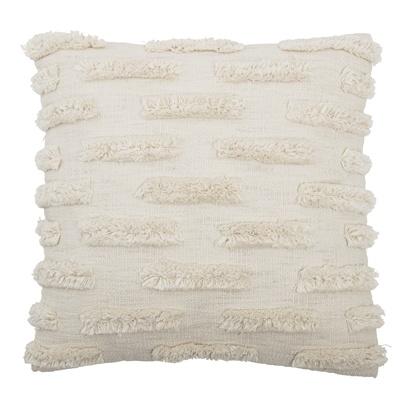 Bloomingville Cojín de algodón - blanco - 50x50cm - Bloomingville