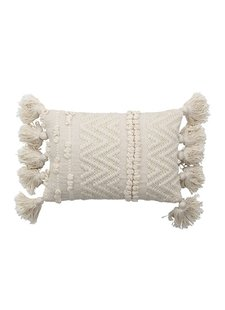 Bloomingville Cushion - blanc - L35xW20 - Bloomingville