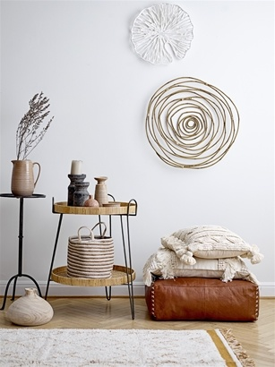 Bloomingville Scandinavian rug Yarn dyed - white - 200x120cm - Bloomingville
