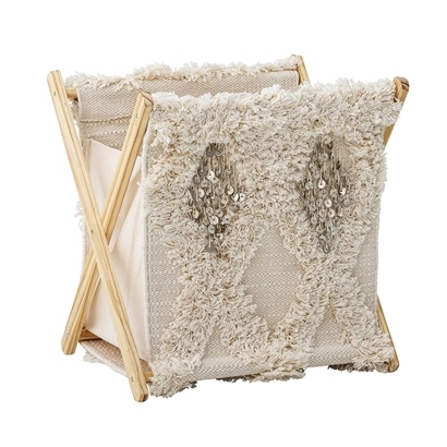 Bloomingville Laundry Bag Boho Chic- Nature - L38xH40xW30cm - Bloomingville