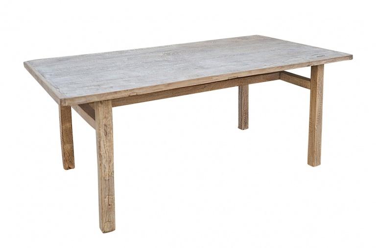 Petite Lily Interiors Table de salle à manger - bois noyer brut  - 194x94xH78cm  - Piece Unique