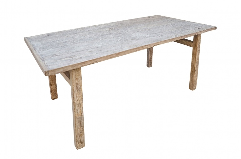 Petite Lily Interiors Mesa de Comedor madera de nuez - 194x94xH78cm - Pieza única