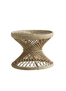 TineKHome Table basse Rotin - Naturel - Ø60x47cm - TineKHome