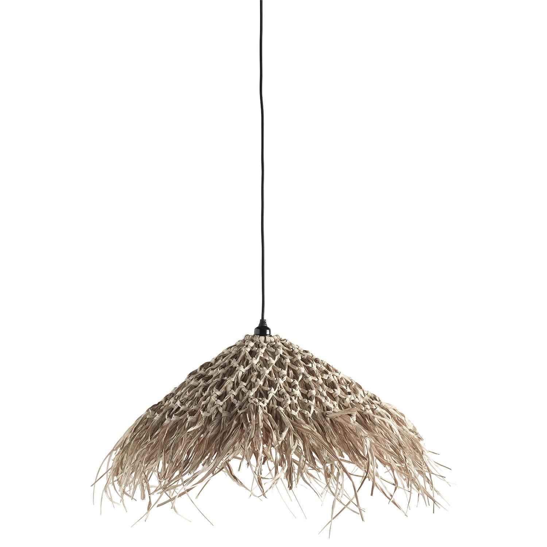 TineKHome Lámpara marroquí de hierba marina - Natural - Ø70cm - TineKHome