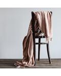 Tell me more Couvre-lit en lin / Plaid - Amande / marrón - 130x170cm - Tell Me More
