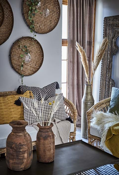 Petite Lily Interiors Indian Wooden frame -  105x10xH190cm - unique item