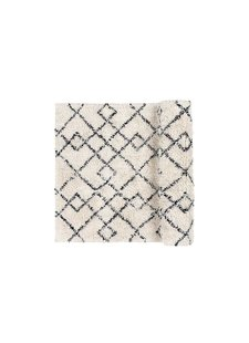Broste Copenhagen Scandinavian-Ethnic rug 'Janson' - Ivory & black - 70x140cm