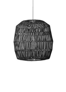 Ay Illuminate Natural rattan pendant Nama 5 - black - Ø78xh78 - Ay Illuminate