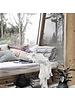 House Doctor Couverture / Plaid en coton - blanc cassé - 180x130cm - House Doctor