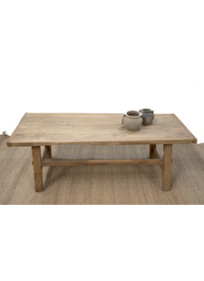 Petite Lily Interiors Coffee table lounge - raw wood - 149x59xh50cm - Unique item