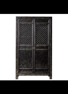Petite Lily Interiors Armoire Cabinet Vintage - Noir - 122x45xH210cm - unique piece