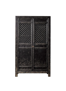 Petite Lily Interiors Black Wardrobe Cabinet - 122x45xH210cm - unique item