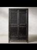 Petite Lily Interiors Black Wardrobe Cabinet Vintage - 122x45xH210cm - unique item