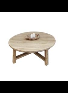Petite Lily Interiors Natural coffee table rond - 80xh30cm - Unique Item