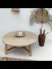 Petite Lily Interiors Mesa de centro rondonda en Madera cruda - 105xh30cm - Pieza única