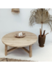 Petite Lily Interiors Natural coffee table rond - 105xh30cm - Unique Item