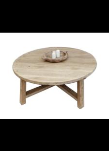Petite Lily Interiors Table basse bois brut - rond - 105xh30cm - Unique Piece