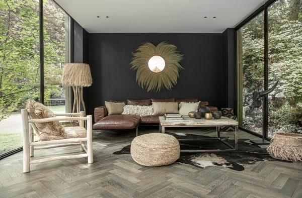 Petite Lily Interiors Floor lamp BohoChic Ethnic - natural - Ø60xH160cm