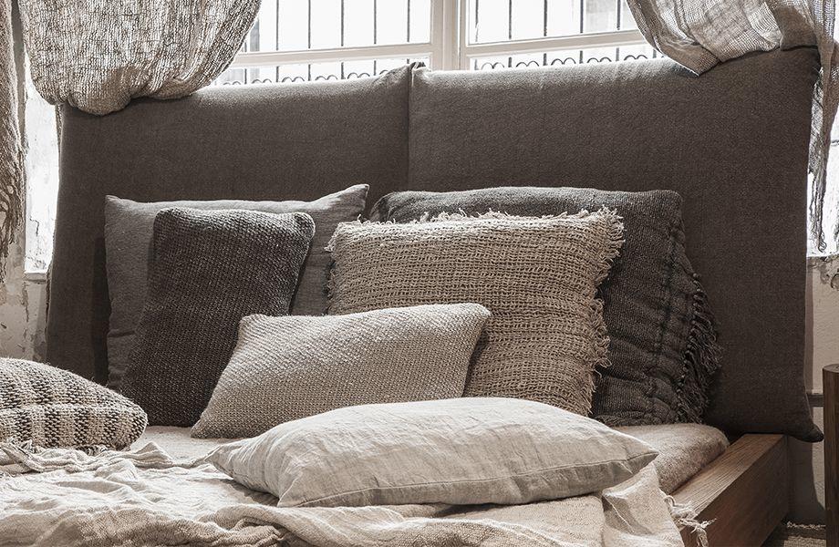 Dareels Tête de lit lin - L80x10xH85cm - Dareels
