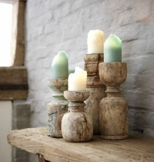 Petite Lily Interiors wooden candle holder India - Unique Item
