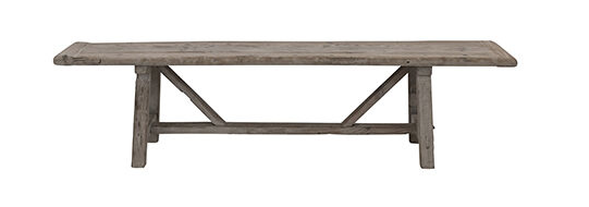 Snowdrops Copenhagen Bench Raw Elm wood - 200x40xh50cm - Unique Product