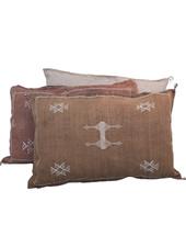 Petite Lily Interiors Housse de coussin Marocain soie - Café Oblong - 80x50cm