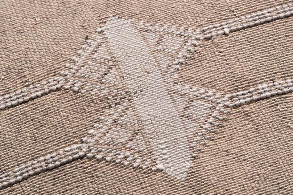 Petite Lily Interiors Housse de coussin Marocain soie - Blanc Cassé Oblong - 80x50cm