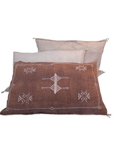 Petite Lily Interiors Moroccan Silk Cushion  - Blush Oblong - 80x50cm