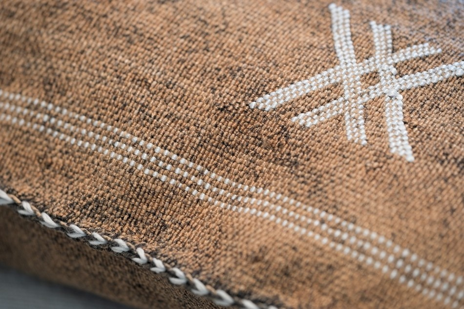 Petite Lily Interiors Cushion cover Moroccan Silk - Coffee Oblong