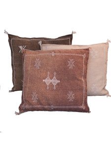 Petite Lily Interiors Moroccan Silk Cushion  - Blush Oblong