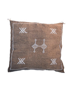 Petite Lily Interiors Moroccan Silk Cushion  - Coffee Oblong