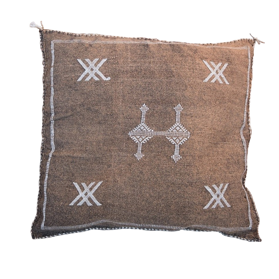 Petite Lily Interiors Moroccan Silk Cushion cover - Coffee Oblong