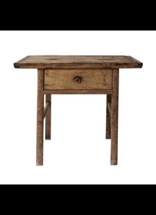 Snowdrops Copenhagen Table console avec tiroir - Bois brut - 110xh75cm