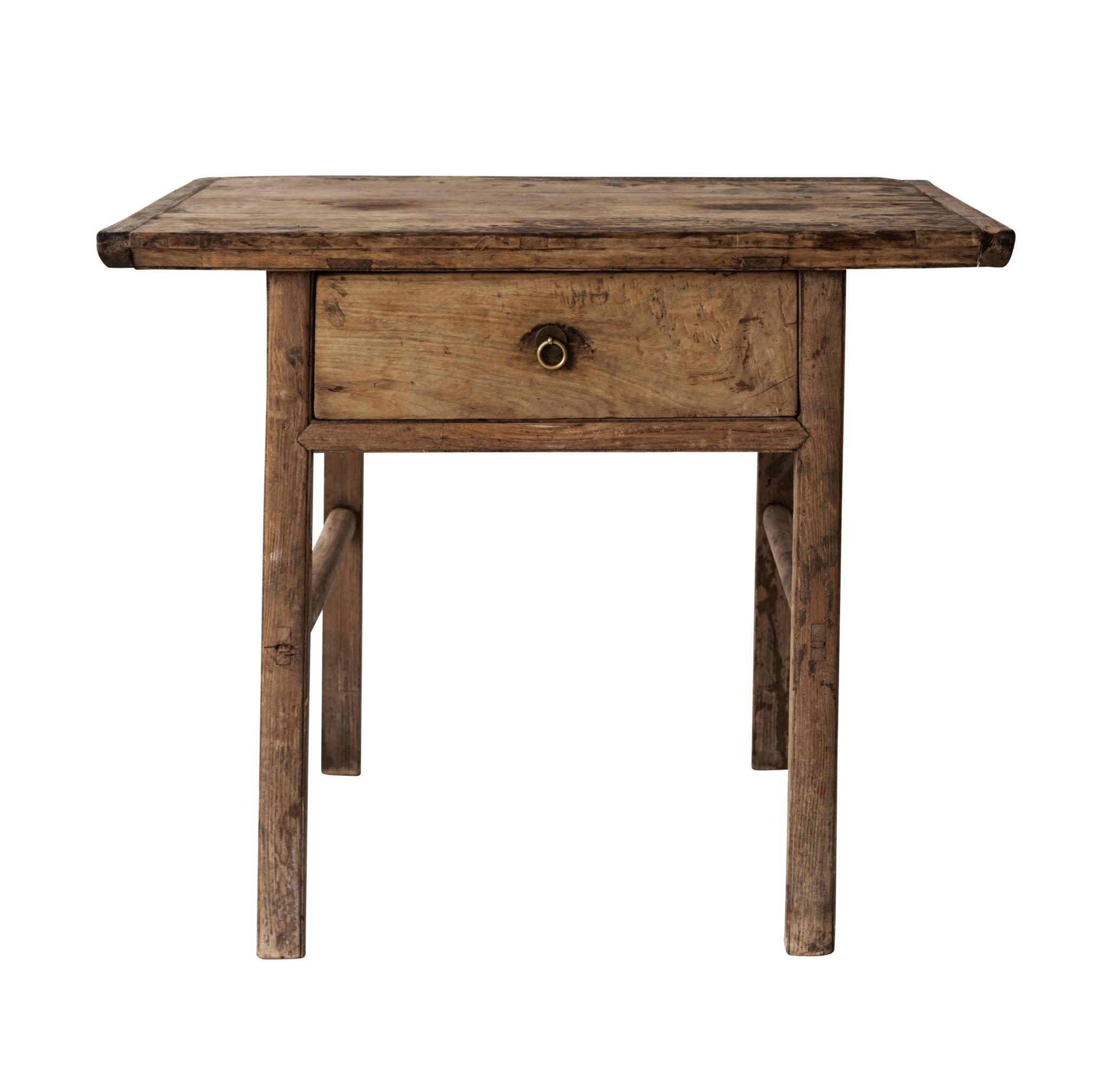 Snowdrops Copenhagen Table console avec tiroir - Bois brut - 110xh75cm - pièce unique