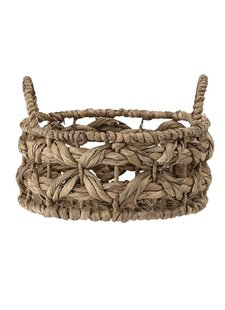 Bloomingville Bread Basket - Nature - Ø24xH10 cm - Water hyacinth - Bloomingville